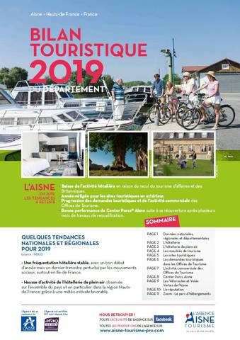 Bilan touristique 2019