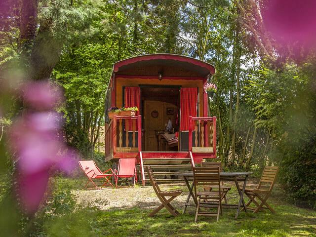 Roulottes au camping Les étangs du Moulin à Suzy