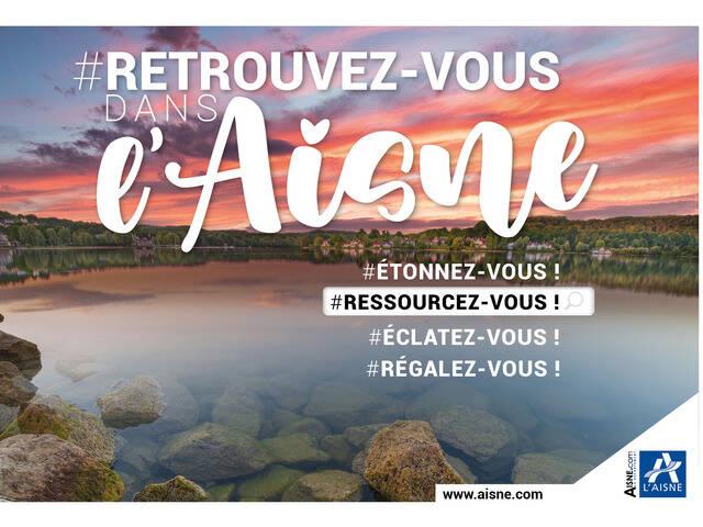 Affiche de la campagne Retrouvez-vous dans l'Aisne