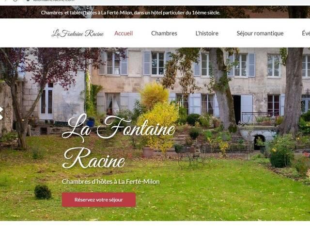 Site web de La Fontaine Racine, chambres d'hôtes La Ferté-Milon