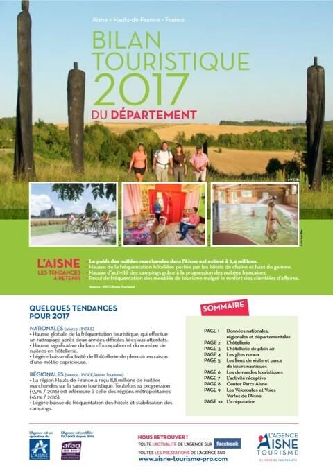 Le bilan 2017 du tourisme dans l'Aisne