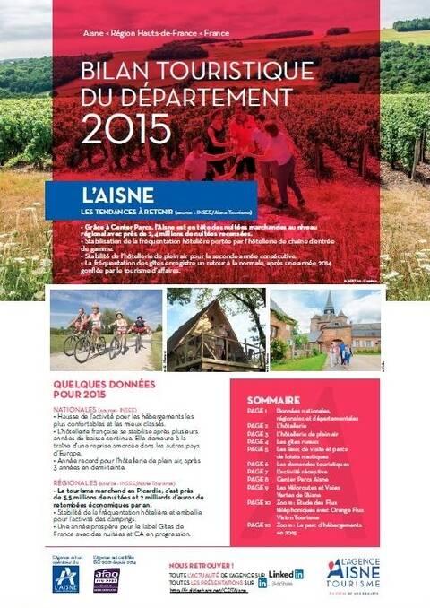 Le bilan 2015 du tourisme dans l'Aisne
